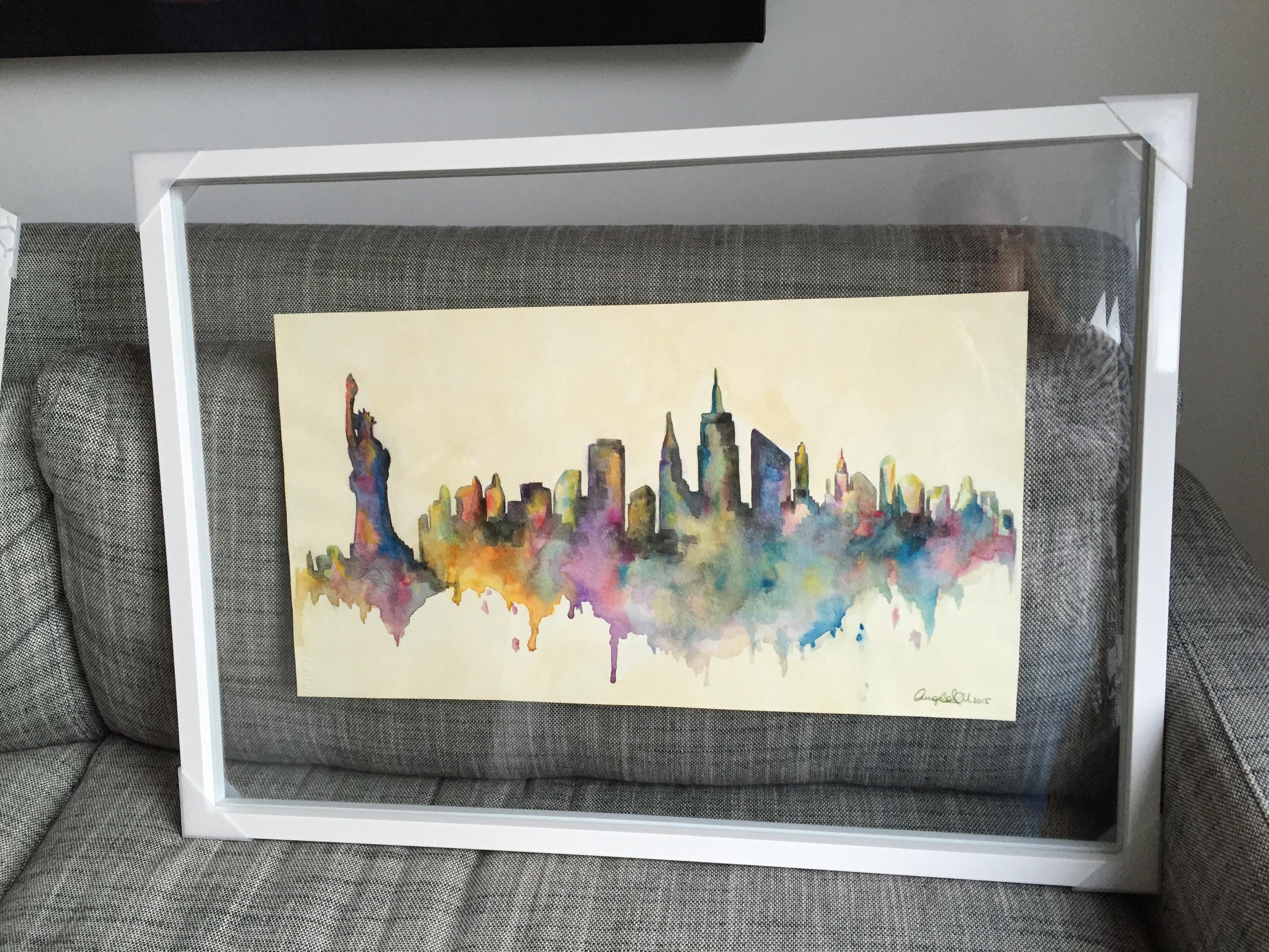 New York Skyline, 2015, Watercolour on paper