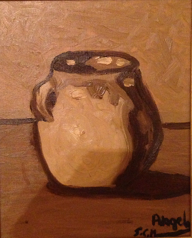 cántaro,-mi-primer-cuadro,-óleo-sobre-lienzo,-1995